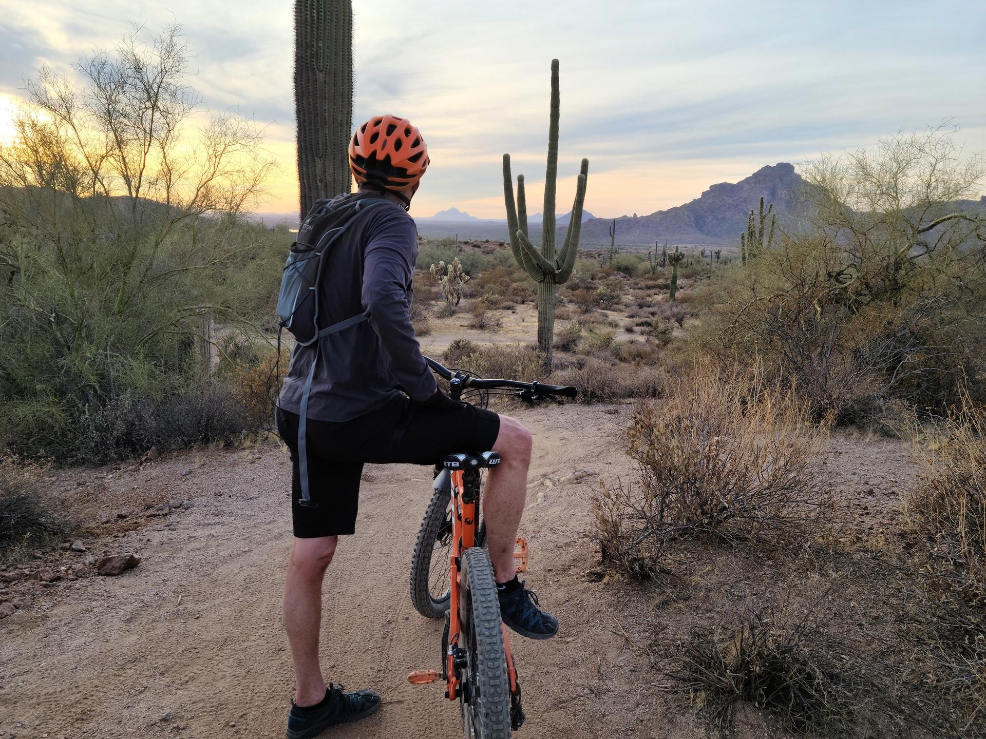 Man riding mouthain bike near Phoenix Arizona by Matthew Osborn on Unsplash